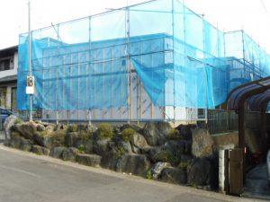 仙台市青葉区の新築工事。足場が外れました。